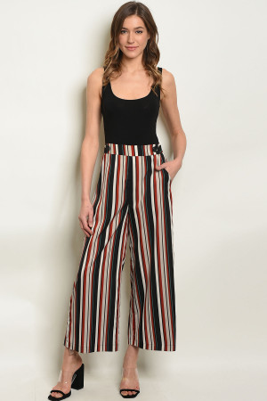 S22-10-3-P71861 BLACK STRIPES PANTS 3-2-1