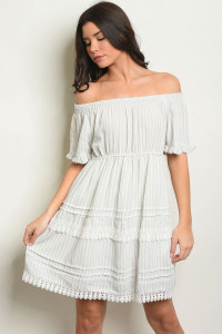 S14-6-5-D5881 GRAY STRIPES DRESS 2-2-2