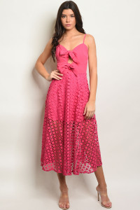 S12-12-2-D12318 FUCHSIA DRESS 2-2-2