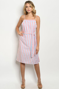 S8-8-3-D1807 BLUSH STRIPES DRESS 2-2-2