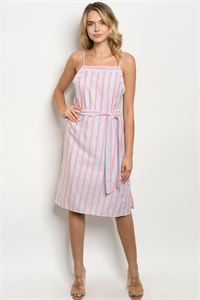 S17-2-1-D1807 BLUSH STRIPES DRESS 1-1-1