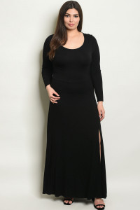 Y-B-D15531X BLACK PLUS SIZE DRESS 2-2-2