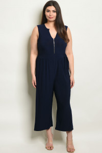 S7-10-3-J1865X NAVY PLUS SIZE JUMPSUIT 1-2-2-1