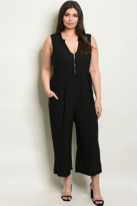 S23-12-2-J1865X BLACK PLUS SIZE JUMPSUIT 1-2-2-1
