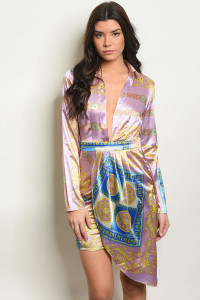 S10-14-5-D30479 LAVENDER PRINT DRESS 2-2-2
