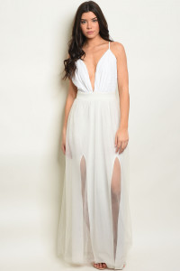 S15-7-4-D10050 OFF WHITE WITH SEQUINS DRESS 2-2-2