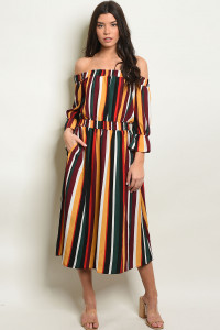 S15-11-3-D30239 MULTI STRIPES DRESS 1-2-2