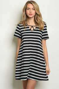 S15-10-2-D42356 BLACK STRIPES DRESS 2-2