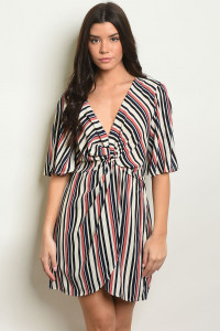 C71-A-1-D32342 MAUVE STRIPES DRESS 2-2-2