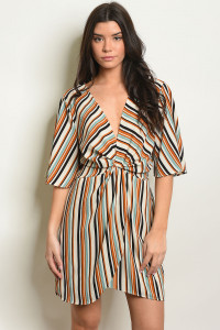 C78-A-1-D32342 MUSTARD STRIPES DRESS 1-1-2