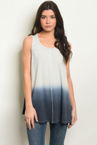S19-12-3-T10156 GRAY NAVY TOP 3-2-2
