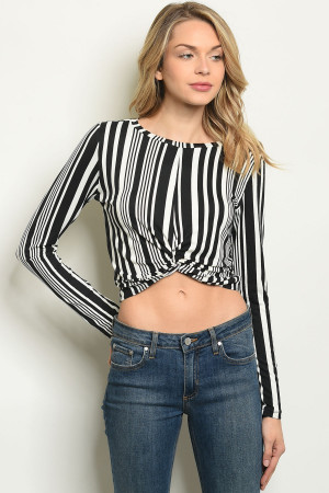S14-12-2-T6057 BLACK STRIPES TOP 1-2-2-1