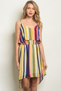 S10-18-4-D1855 MULTI STRIPES DRESS 2-2-2