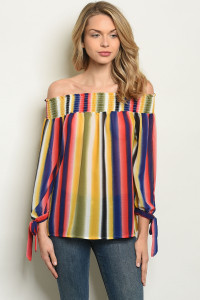 S11-17-4-T1856 MULTI STRIPES TOP 2-2-2