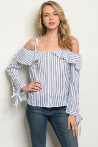 S16-9-2-T110 BLUE STRIPES TOP 1-3-1