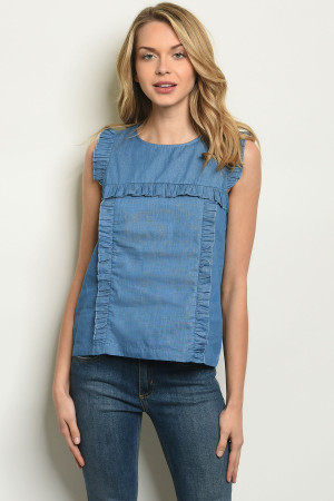 S10-17-4-T70075 DENIM BLUE TOP 2-2-2