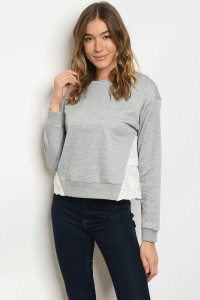 S19-9-3-T202 GRAY TOP / 3PCS