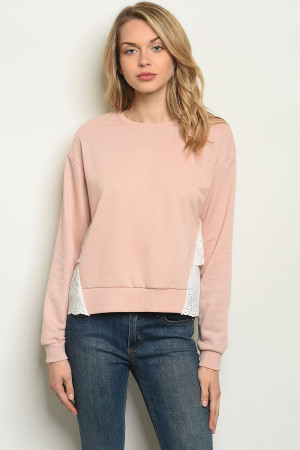 S6-10-4-T202 BLUSH TOP 3-2-1