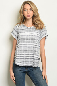 S20-11-4-T3722 GRAY STRIPES TOP 1-2-2-1