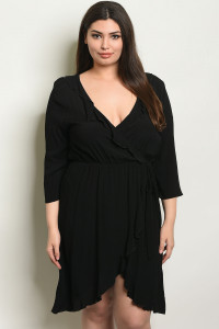C20-A-1-D30726X BLACK PLUS SIZE DRESS 2-2-2