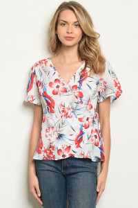 S18-10-6-T283 WHITE FLORAL TOP 2-2-2-2
