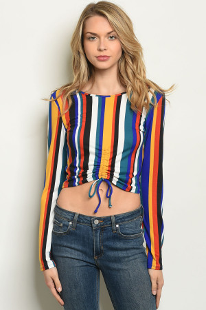 S5-8-1-T6059 MULTI STRIPES TOP / 1PC MEDIUM