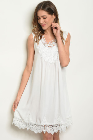 SA4-000-4-D9677 OFF WHITE DRESS 2-2-2