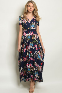 S19-12-6-D0013X NAVY FLORAL PLUS SIZE DRESS 2-2