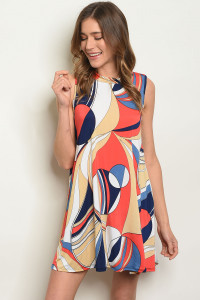 C75-A-3-D1155 MULTI COLOR DRESS 2-2-2-2