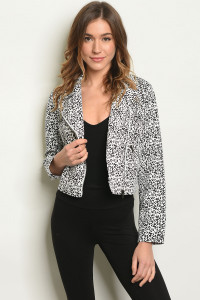 SA3-4-1-J32034 WHITE BLACK JACKET 3-2-1