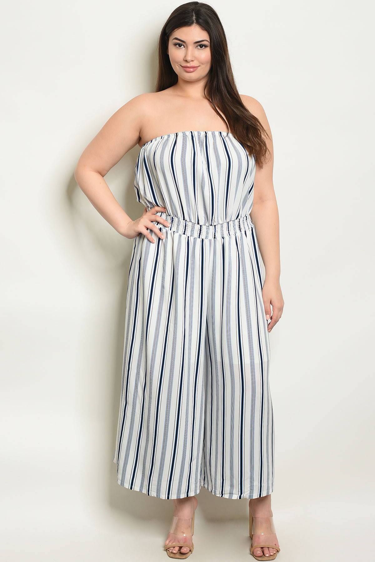 64939cdad1cb S3-5-3-J13797X OFF WHITE STRIPES PLUS SIZE JUMPSUIT 1-3-2