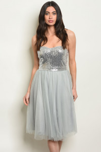 S17-11-1-D4874 GRAY WITH SEQUINS DRESS 1-1-1