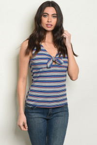 S10-9-3-T82951 BLUE STRIPES TOP 2-2-2
