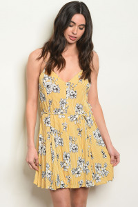 S21-7-3-D11222 MUSTARD STRIPES DRESS 2-2-2