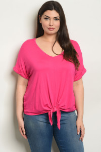 C80-B-2-T2065X FUCHSIA PLUS SIZE TOP 2-2-2