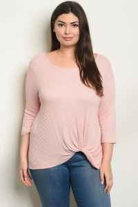 C82-A-1-T0904X PINK PLUS SIZE TOP 2-2-2