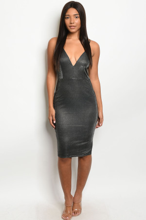 S19-6-3-D206 BLACK WITH SHIMMER DRESS 2-2-2  ***WARNING: California Proposition 65***