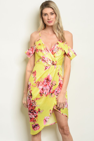 S19-10-6-D30453 YELLOW FLORAL DRESS 2-2-2