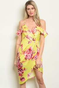S22-11-2-D30453 YELLOW FLORAL DRESS 3-2-2