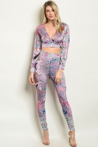 S22-11-2-SET40549 LILAC WITH FLOWER PRINT TOP & PANTS SET 3-1-3
