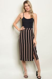 S17-12-1-S40607 BLACK STRIPES SKIRT 1-1-1
