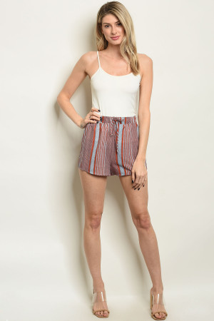 S64-B-2-S16411 RED STRIPES SHORT 3-2-1