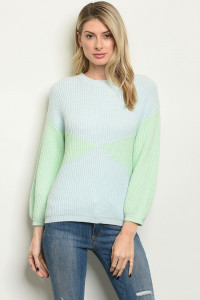 S21-2-2-S0105 BLUE MINT SWEATER 3-2-1