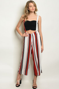 C81-A-3-O7228 OFF WHITE STRIPES OVERALL 2-2-2