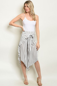 S21-1-2-C68014 GRAY STRIPES CAPRI PANTS 2-2-2