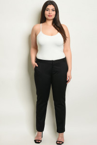 S16-10-6-P6828X BLACK PLUS SIZE PANTS 2-2-1