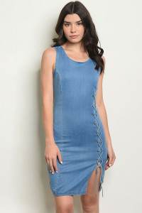 S17-9-1-D1040 LIGHT BLUE DENIM DRESS 1-1-1