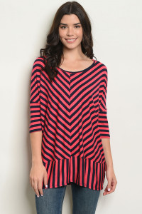 C2-A-5-T2164 NAVY STRIPES TOP 2-2-2