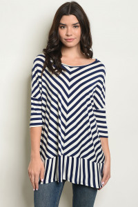 C4-A-3-T2164 IVORY STRIPES TOP 2-2-2