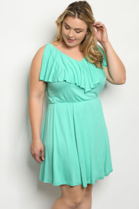 S10-6-4-D21064X AQUA PLUS SIZE DRESS 2-2-2